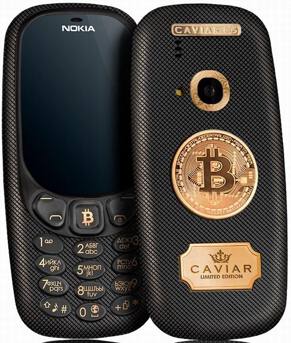 Caviar предложила особую версию Nokia 3310 для майнеров