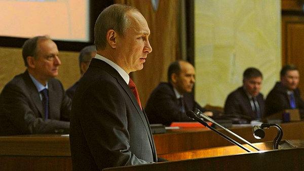 Речь Путина перед офицерами …