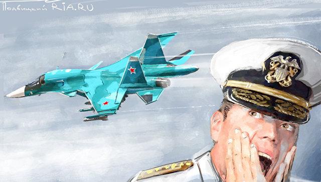 Атака русских самолетов на а…