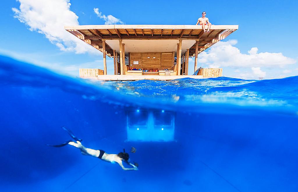 Подводный отель в Танзании.