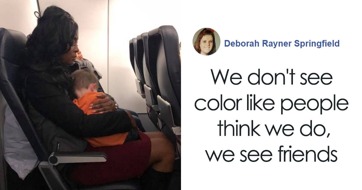 This Mother Of Two Needed Help During A Flight So 3 Random Strangers Stepped Up To Help Her