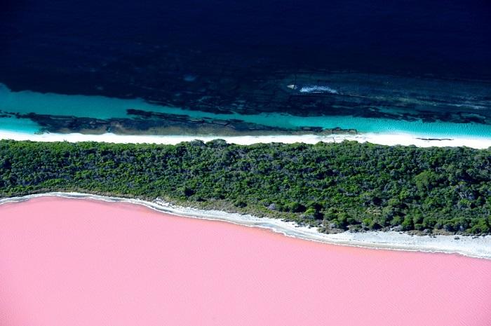Самое загадочное розовое озеро в мире. Озеро расположено на Срединном острове в архипелаге Речерч на юго-западе Австралии.