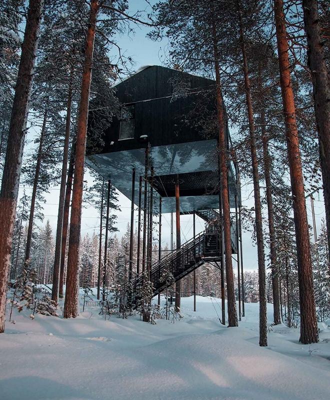 В Лапландии построили необычный отель