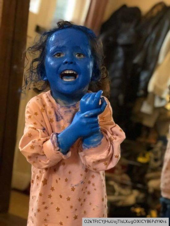 Трехлетняя дочка превратилась в аватара