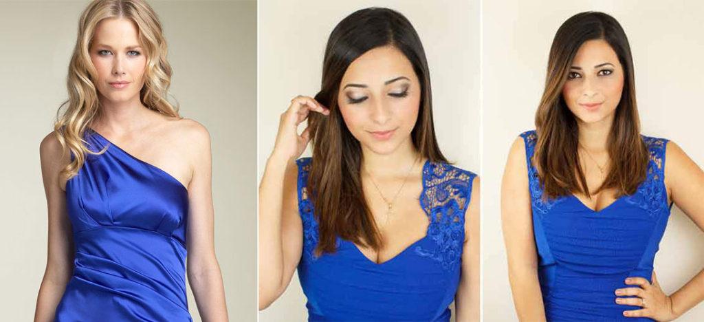 Какой макияж подойдет к синему платью и карие глаза