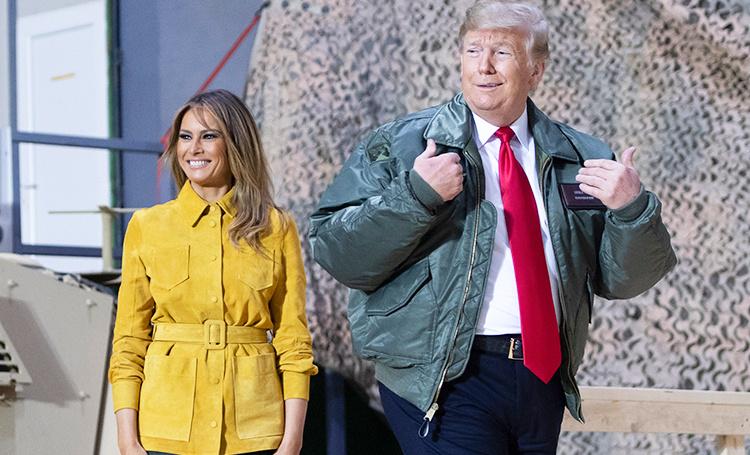 Дональд Трамп взял с собой Меланию в зону боевых действий