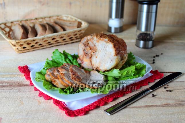 Свинина, тушёная в рукаве в мультиварке