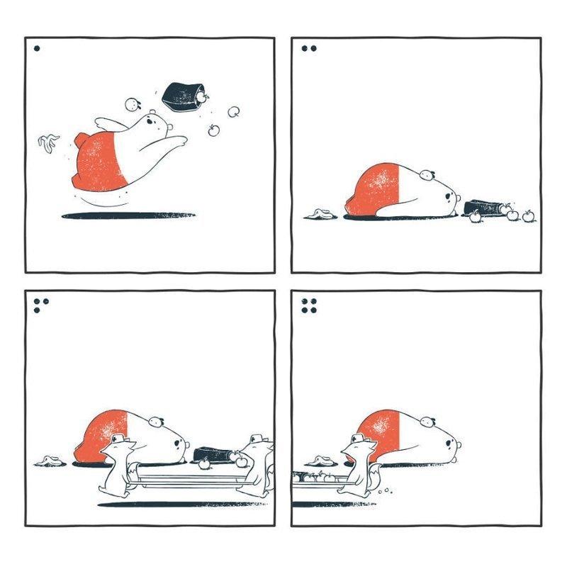 «Помощь» забавно, комиксы, подборка, рисунки, юмор