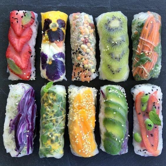 Так называемые спринг-роллы в рисовой бумаге - сладкие и мясные, из овощей и морепродуктов - здесь ограничение только ваша фантазия готовка, еда, идеи, кухня, рулеты