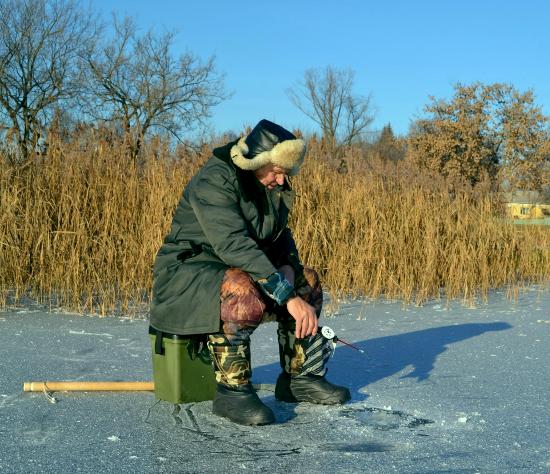 Перед выходом на лед
