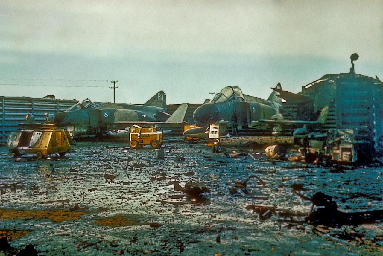 Меры по защите баз американской авиации во Вьетнаме
