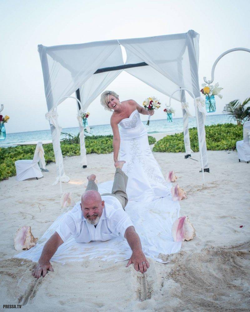 Необычные и забавные свадебные моменты