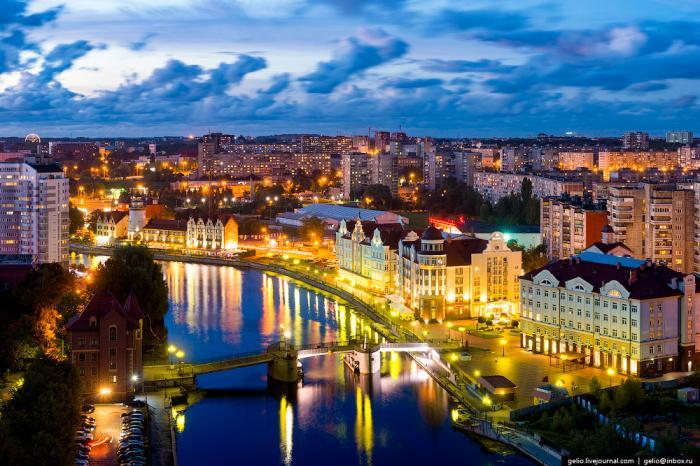 Знакомство с высоты птичьего полета с Калининградом - самым западным городом России