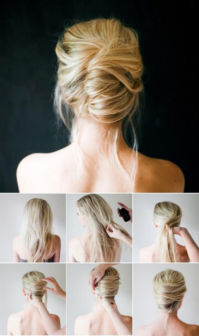 прически для длинных волос своими руками дома с фото
