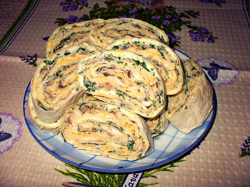 Мимоза в лаваше: простой рецепт вкусной закуски