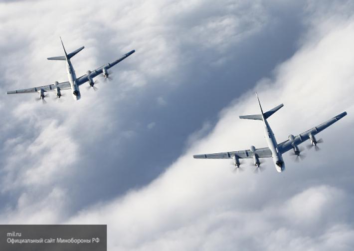 Американские ВВС сопровождали Ту-95 и Су-35 ВКС РФ у берегов Аляски