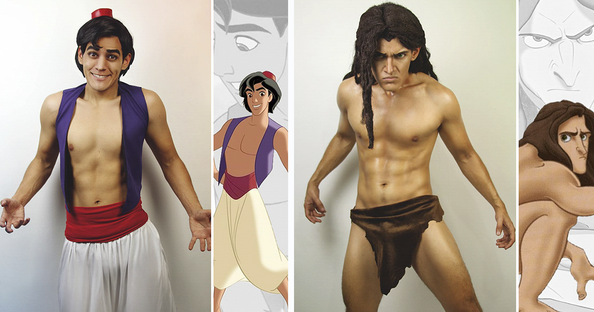 This Cosplayer Can Turn Himself Into Any Disney Character, And His Facial Expressions Are Spot-On