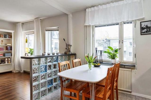 Кухня гостиная в скандинавск…
