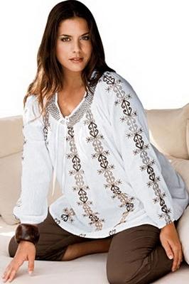 Блузки для полных