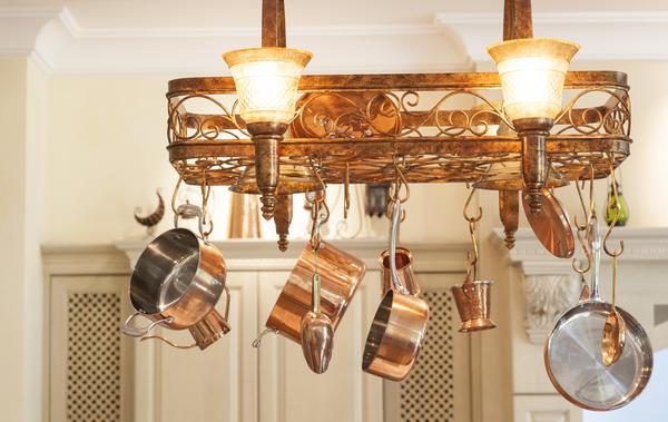 Светильники и люстры из кухонной утвари