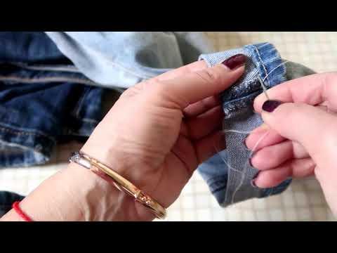 Потрясающий способ подшить джинсы за 5 минут