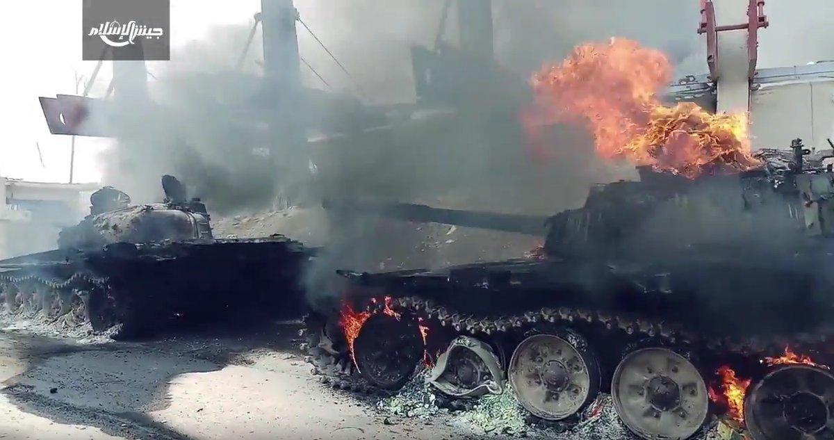 Уничтожение бронегруппы боевиков в Восточной Гуте