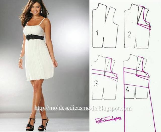 Простые выкройки летних платьев 23