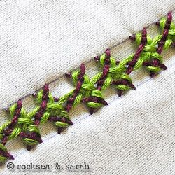 Interlaced Herringbone Stitch Sara's Hand Embroidery Tutorials
