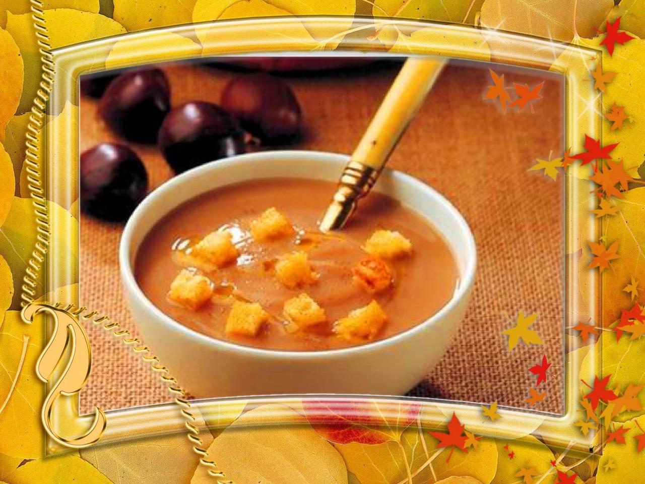 Чешский каштановый суп на Пасху.