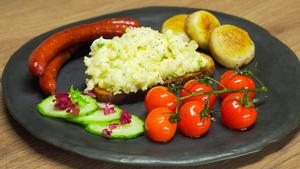 Фото к рецепту: Яйца скрэмбл или яичница-болтунья
