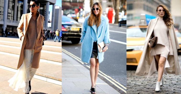 Как правильно сочетать длину пальто и юбки
