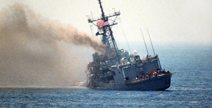 Эсминец США в Сирии готовится утонуть