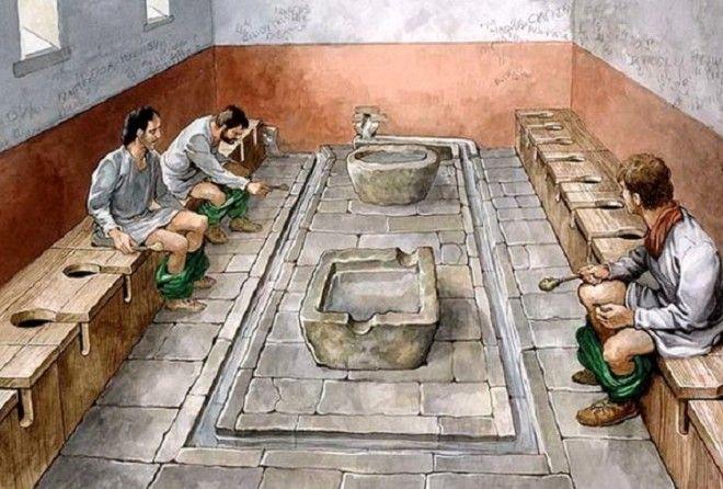 10 шокирующих фактов о туалетах в Древнем Риме