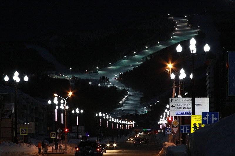 Вид на «Горный Воздух» прямо с города история, сахалин, факты