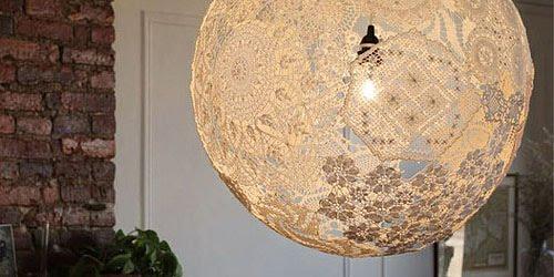 САМОДЕЛКИ. Как легко сделать кружевную лампу