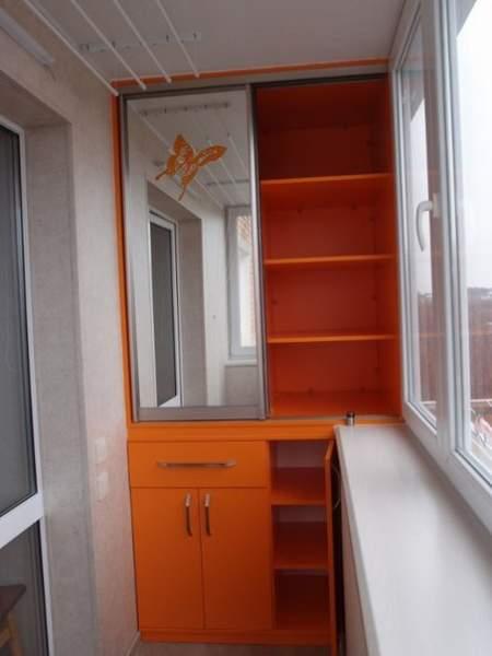 Место для хранения на балконе