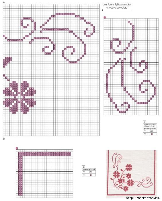схема вышивки для скатерти (565x700, 242Kb)