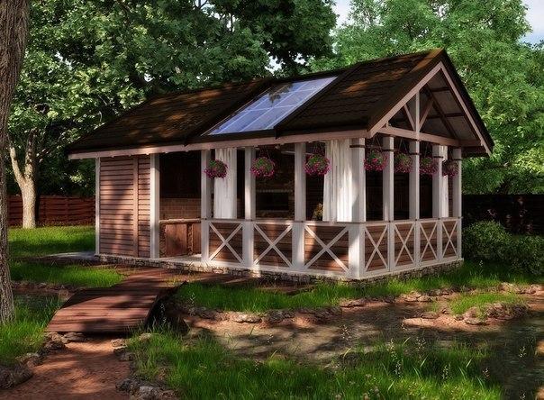 Домик в лесу...Зачем нужна летняя кухня?