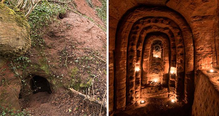 Кроличья нора оказалась входом в заброшенную 700-летнюю пещеру тамплиеров