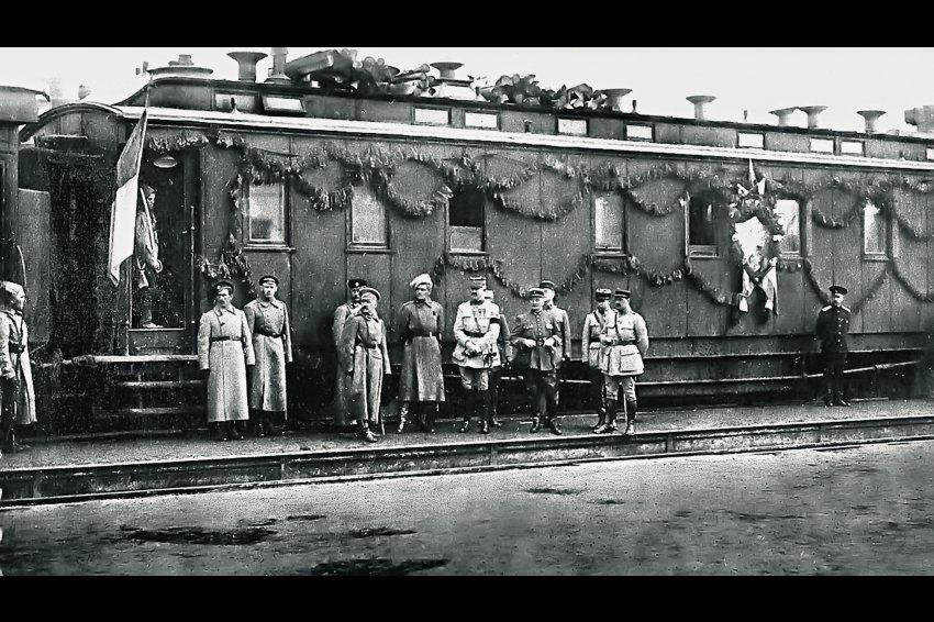 Штабной вагон генерала Мориса Жанена.Омск 1918-1919 гг.