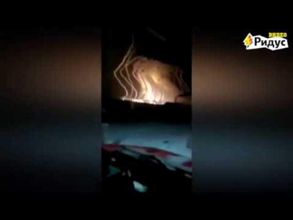 Видео падающей ракеты на пол…