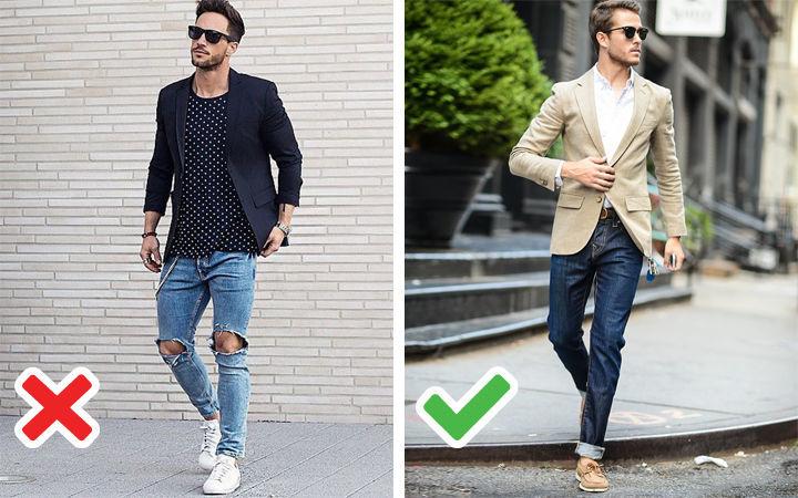 Рваные мужские джинсы