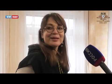 Российская актриса посетила прифронтовой поселок Гольмовский