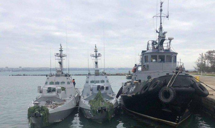 ФСБ рассказала о странностях в вооружении задержанных украинских кораблей