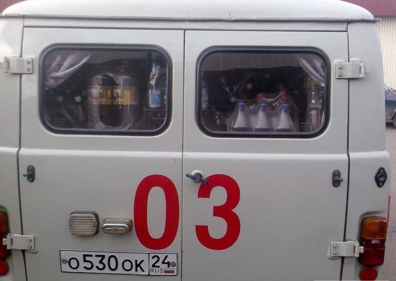 Вот почему машин в скорой помощи не хватает больница, прикол, россия, смешно, фото