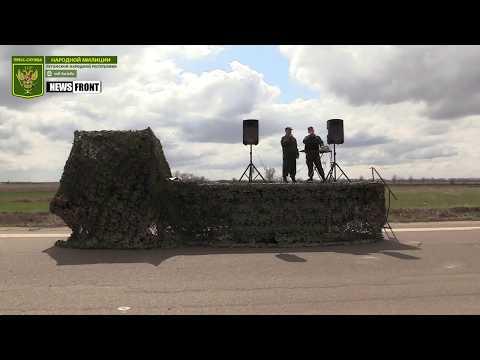 Первая совместная репетиция парада Победы в Луганске