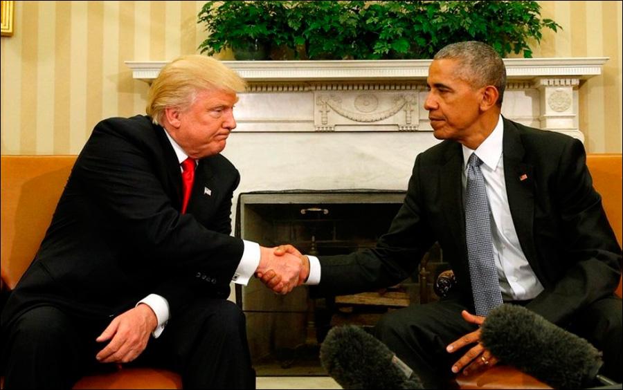 А Вы замечали как Трамп пожимает руку? ...