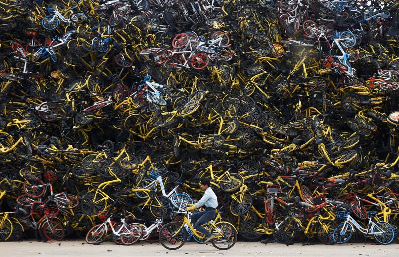 «Горшочек, не вари!»: как прокатные велосипеды наводнили Китай
