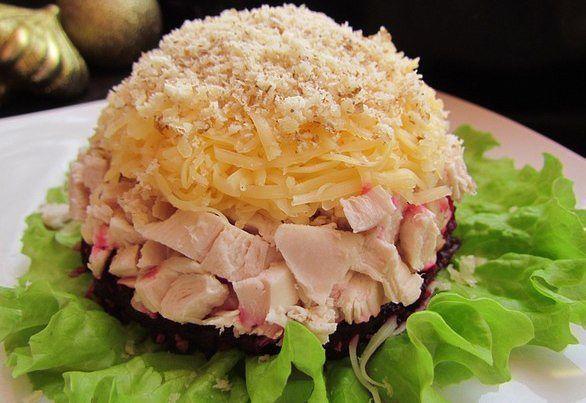 Интересный и очень вкусный салат «Кучеряшка». Станет вашим любимым!