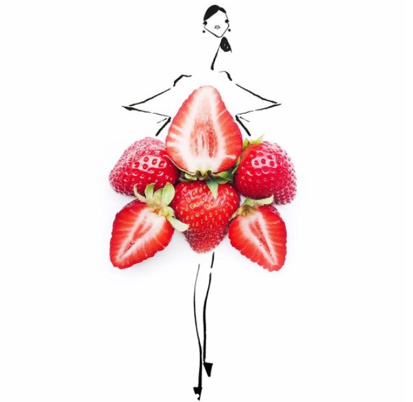 Поразительные эскизы женских нарядов из привычных нам продуктов